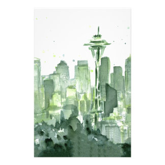 Seattle Watercolor Stationery