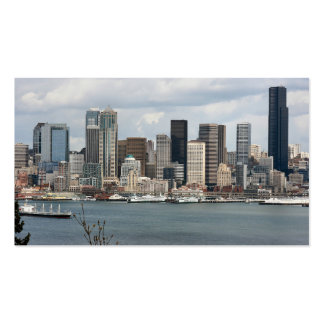 Seattle Waterfront Double-Sided Standard Business Cards (Pack Of 100)