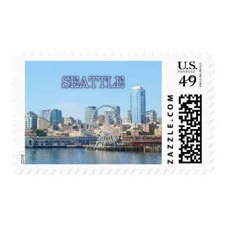 Seattle Waterfront  Postage Stamp