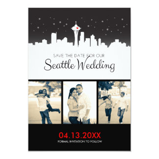 Seattle Wedding Save-the-date Card