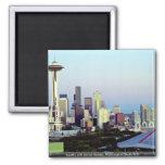Seattle with Mount Rainier, Washington State, U.S. Magnet