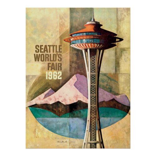 Seattle World's Fair 1962 Vintage Poster