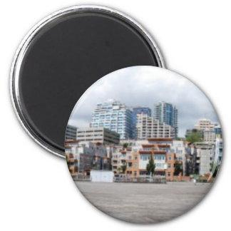 SeattleDowntownPanorama073110 2 Inch Round Magnet