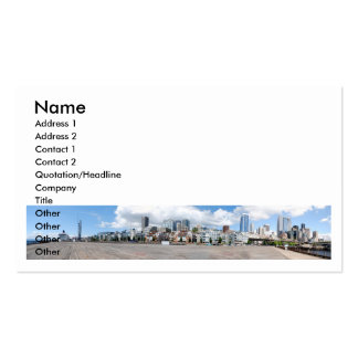 SeattleDowntownPanorama073110, Name, Address 1,... Double-Sided Standard Business Cards (Pack Of 100)