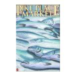SeattleFish en el hielo en el mercado de lugar de  Impresión En Lona
