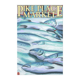 SeattleFish on Ice at Pike Place Market Canvas Print