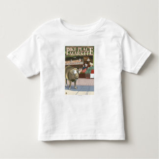 SeattleFish Toss and Bronze Pig at Pike Place Toddler T-shirt