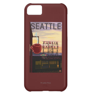 SeattlePike Place Market Sign and Water View iPhone 5C Cover
