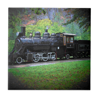 Seattle's Old No. 6 Retired Train Engine Ceramic Tile