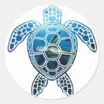 seaturtle-2 classic round sticker