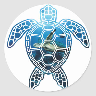 seaturtle-2 classic round sticker