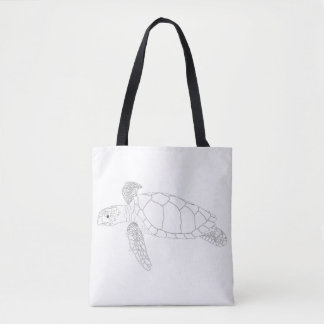 Seaturtle Adult Coloring Full Tote