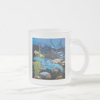 Seaturtle - ocean life frosted glass coffee mug