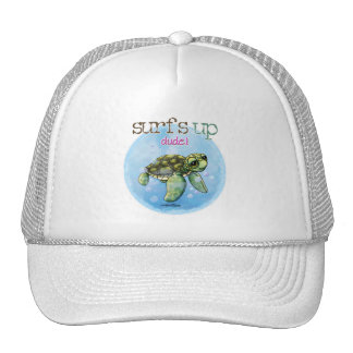 Seaturtle surfer girl hat