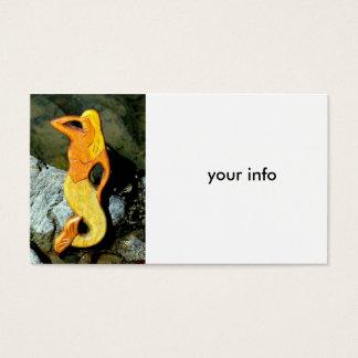 seaward gazing blonde mermaid business card