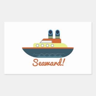 Seaward Rectangular Pegatinas