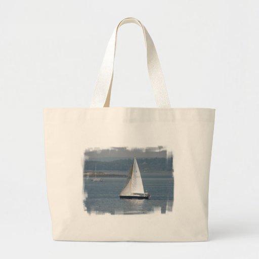 Seaward Sailboat Canvas Tote Bag