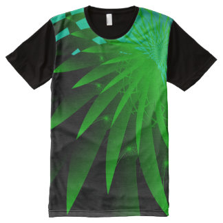 Seaweed 3 Psychedelic Abstract Fine Fractal All-Over Print Shirt