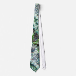 Seaweed abstract pattern on the stone tie