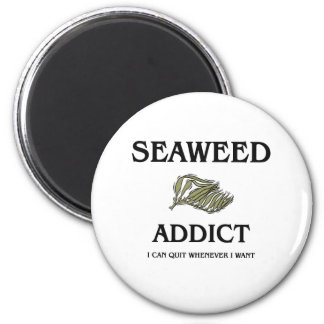 Seaweed Addict 2 Inch Round Magnet