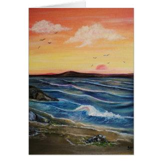 Seaweed and Rock pools Card