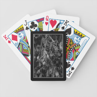 Seaweed, Black and White. Bicycle Playing Cards