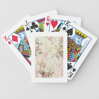 Seaweed design for silk material (w/c on paper) bicycle playing cards