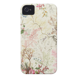 Seaweed design for silk material (w/c on paper) iPhone 4 case