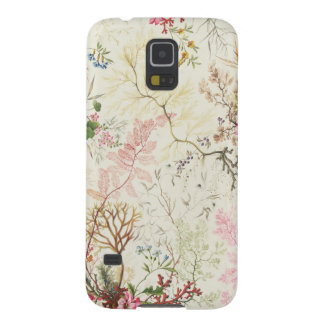 Seaweed design for silk material (w/c on paper) cases for galaxy s5