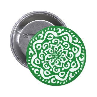 Seaweed Mandala Button