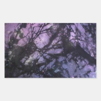 Seaweed Monoprint (Night Sky) Rectangle Stickers