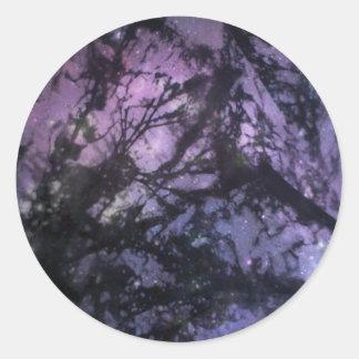 Seaweed Monoprint (Night Sky) Stickers