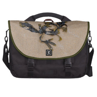 Seaweed on a Sandy Beach Cornwall England Laptop Commuter Bag