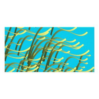 Seaweed on aqua card