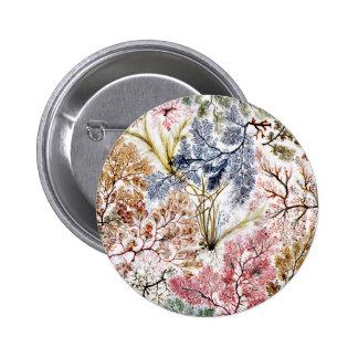 Seaweed Silk Fabric Art Pinback Button
