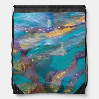 Seaweed Strands Drawstring Bag