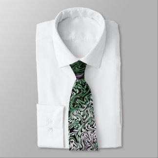 Seaweed Swirl Fractal Tie