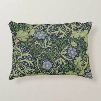 Seaweed Wallpaper Design, printed by John Henry De Accent Pillow