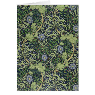 Seaweed Wallpaper Design, printed by John Henry De Greeting Card