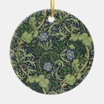 Seaweed Wallpaper Design, printed by John Henry De Double-Sided Ceramic Round Christmas Ornament