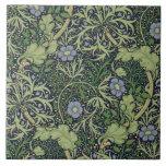 Seaweed Wallpaper Design, printed by John Henry De Large Square Tile