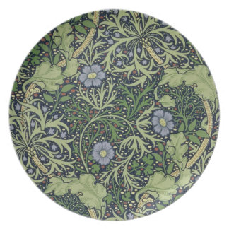 Seaweed Wallpaper Design, printed by John Henry De Dinner Plate