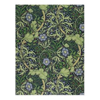 Seaweed Wallpaper Design, printed by John Henry De Postcard