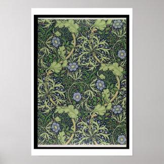 Seaweed Wallpaper Design, printed by John Henry De Poster