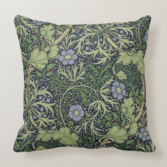 Seaweed Wallpaper Design, printed by John Henry De Throw Pillow