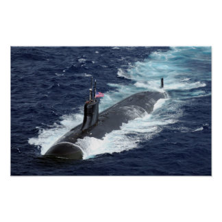 Seawolf-class attack submarine USS Connecticut Poster
