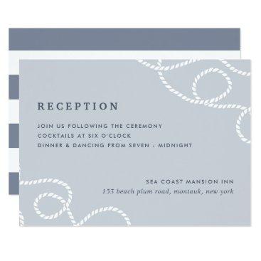 Beach Themed Seaworthy Reception Enclosure Card | Fog