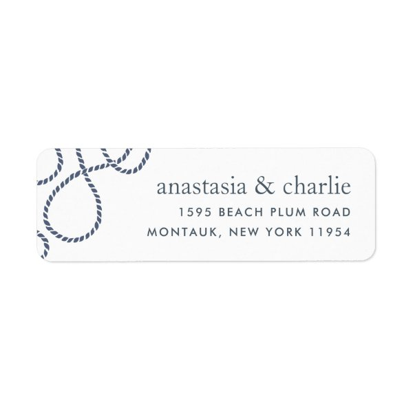 Seaworthy Return Address Label | White