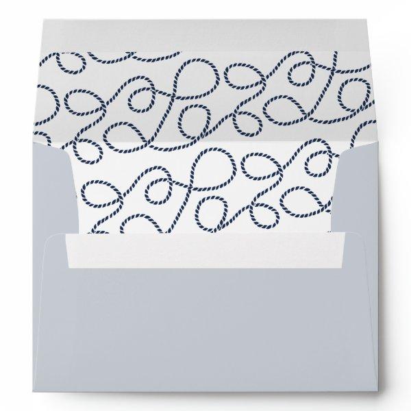 Seaworthy | Rope Pattern 5x7 Return Address Envelope