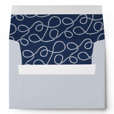 Beach Themed Seaworthy | Rope Pattern 5x7 Return Address Envelope